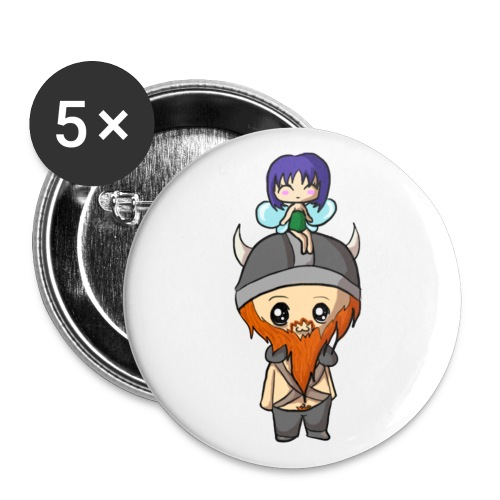 Fairy Large Badge (5 Pack) - Large Buttons