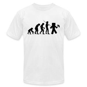 Superior Mens Tee: Minecraft Evolution - Men's T-Shirt by American Apparel