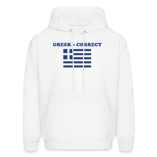 Mens Greek = Correct Hoody - Men's Hoodie