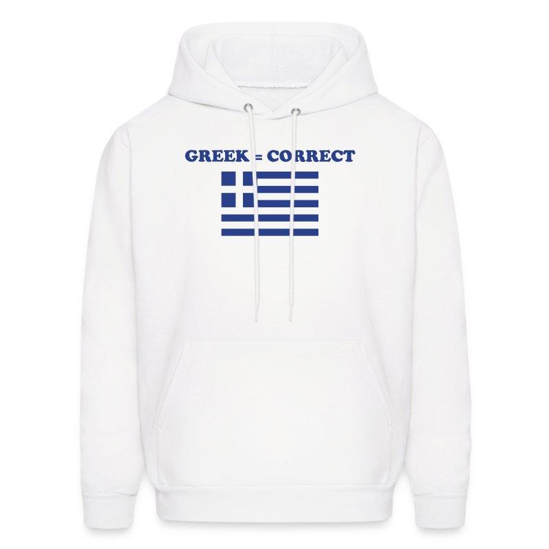 Mens Greek = Correct Hoody - Men's Hoodie