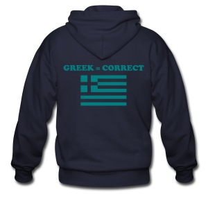 Mens Greek = Correct Zipper Hoody - Men's Zip Hoodie