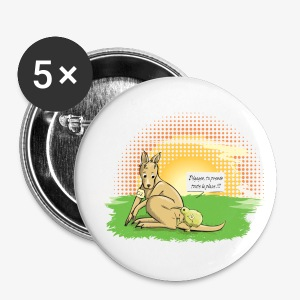 Australia VS New Zealand - Large Buttons