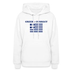 Womans Greek = Correct Hoody - Women's Hoodie