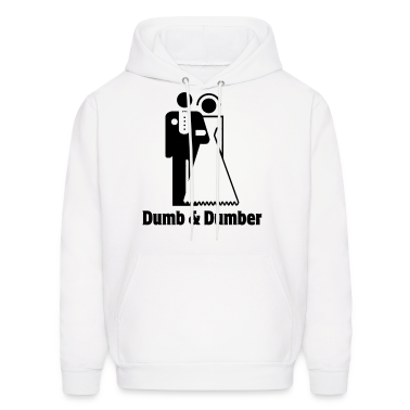 Dumb & Dumber Bride Groom Wedding Hoodies