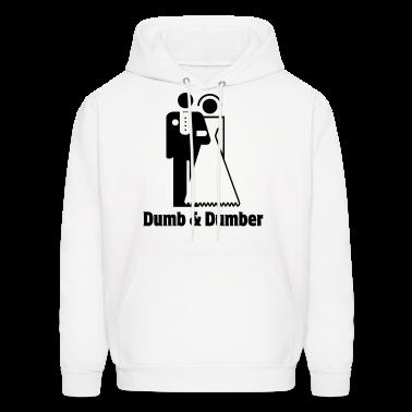 Dumb & Dumber Bride Groom Wedding Hoodies