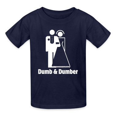 Dumb & Dumber Bride Groom Wedding Kids' Shirts