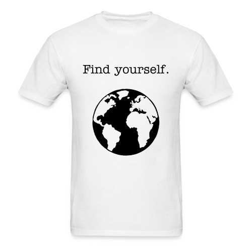 'find yourself' tee (white) - Men's T-Shirt