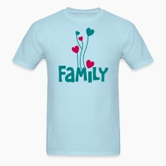 family word with lovely love heart balloons T-Shirts