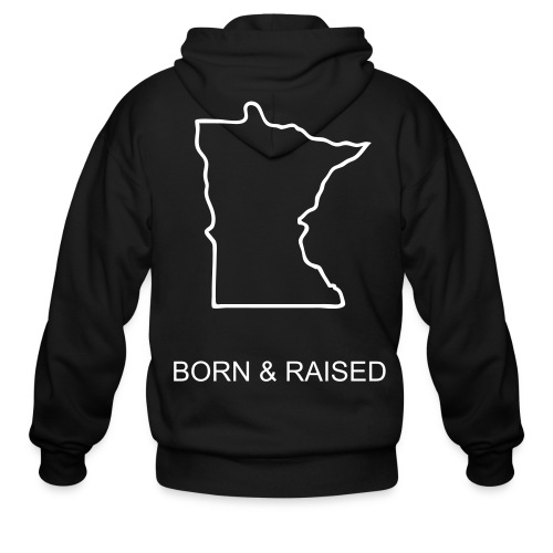 born and raised hoody - Men's Zip Hoodie