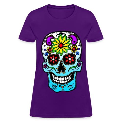 Hippie skull tee - Women's T-Shirt
