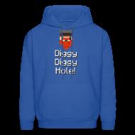 Hoodies ~ Men's Hoodie ~ Mens Hoodie: Diggy Diggy Hole
