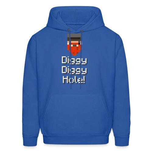 Mens Hoodie: Diggy Diggy Hole - Men's Hoodie