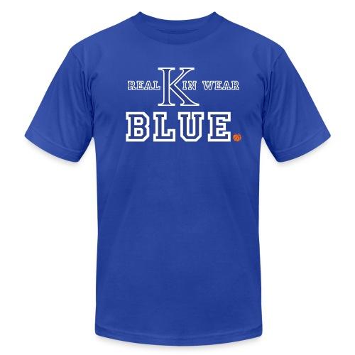 Real Kin Wear Blue - UK Basketball - Unisex - Men's Fine Jersey T-Shirt