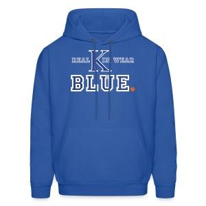 Real Kin Wear Blue - UK Basketball Hoodie - Men's Hoodie