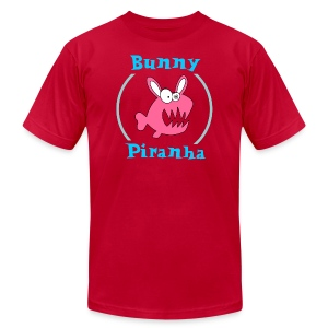 Bunny Piranha - Men's T-Shirt by American Apparel