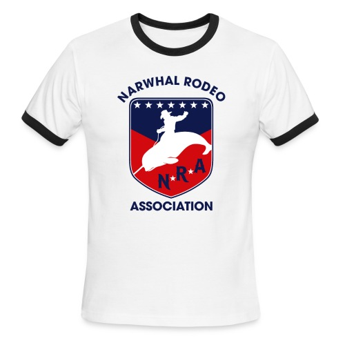 Narwhal Rodeo Association - Men's Ringer T-Shirt