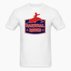Narwhal Rodeo Sign T-Shirts