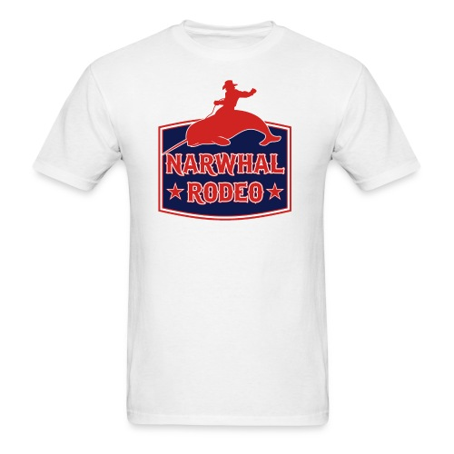 Narwhal Rodeo Sign - Men's T-Shirt