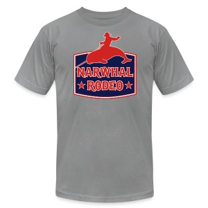 Narwhal Rodeo Sign - Men's T-Shirt by American Apparel
