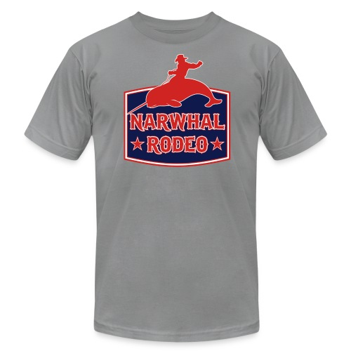 Narwhal Rodeo Sign - Men's Fine Jersey T-Shirt