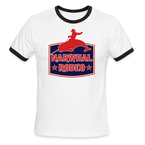 Narwhal Rodeo Sign - Men's Ringer T-Shirt