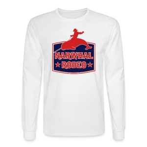Narwhal Rodeo Sign - Men's Long Sleeve T-Shirt