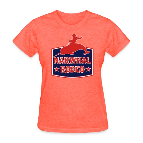 Narwhal Rodeo Sign - Women's T-Shirt