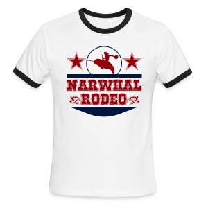 Narwhal Rodeo - Men's Ringer T-Shirt