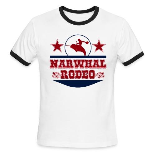 Narwhal Rodeo - Men's Ringer T-Shirt