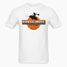 Narwhal Rodeo Awesome (orange) T-Shirts
