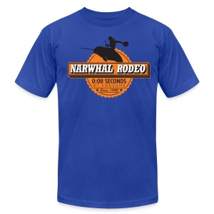 Narwhal Rodeo Awesome - Men's T-Shirt by American Apparel