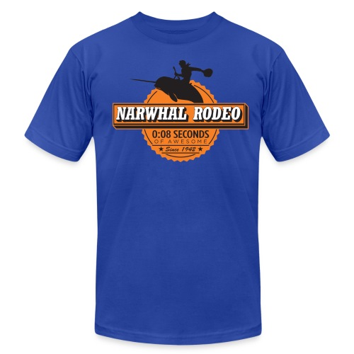 Narwhal Rodeo Awesome - Men's Fine Jersey T-Shirt