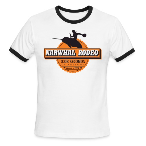 Narwhal Rodeo Awesome - Men's Ringer T-Shirt