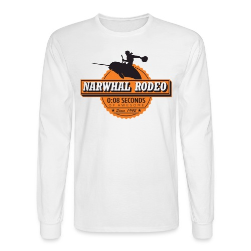 Narwhal Rodeo Awesome - Men's Long Sleeve T-Shirt