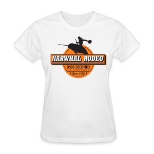 Narwhal Rodeo Awesome - Women's T-Shirt