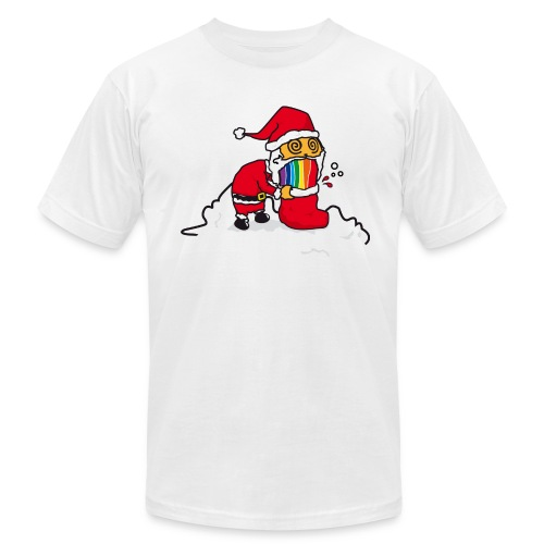 Christmas Cat - Men's Fine Jersey T-Shirt