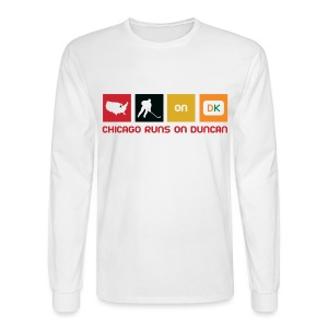 Chicago Runs On Duncan - Men's Long Sleeve T-Shirt