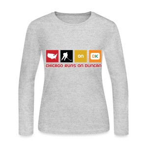 Chicago Runs On Duncan - Women's Long Sleeve Jersey T-Shirt