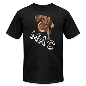 Men's Mac (White Text) Black AA Tee - Men's T-Shirt by American Apparel