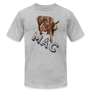 Men's Mac (Black Text) Grey AA Tee - Men's T-Shirt by American Apparel