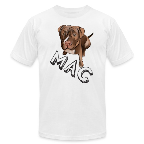 Men's Mac (White Text) AA Tee - Men's T-Shirt by American Apparel