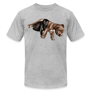 Men's Mac and Boo Grey AA Tee - Men's T-Shirt by American Apparel