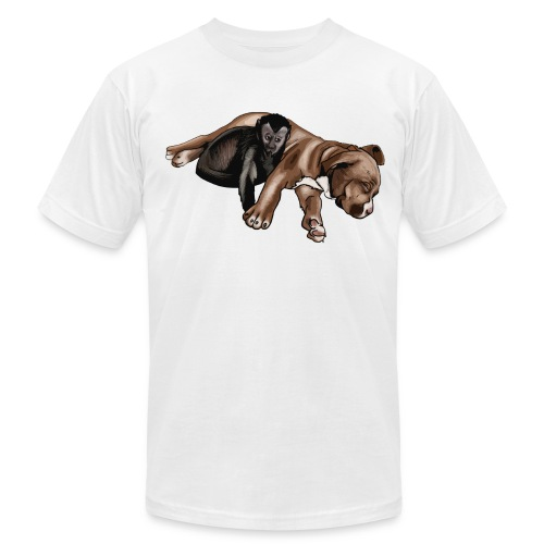 Men's Mac and Boo (White) AA Tee - Men's T-Shirt by American Apparel