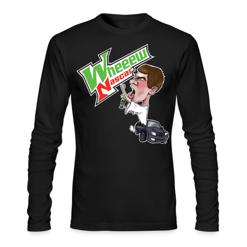 Men's Whew Nascar Black Sweatshirt - Men's Long Sleeve T-Shirt by Next Level