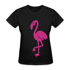 animal t-shirt flamingo pink lagoon laguna bird holiday tropic sunset florida miami - Women's T-Shirt