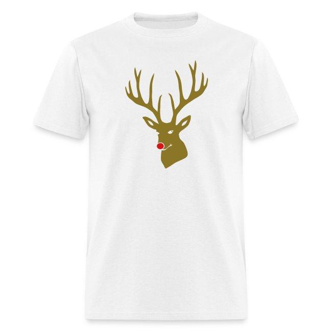 be57ac55d animal t-shirt christmas x-mas merry reindeer deer rudolph red nose antlers  buck heart