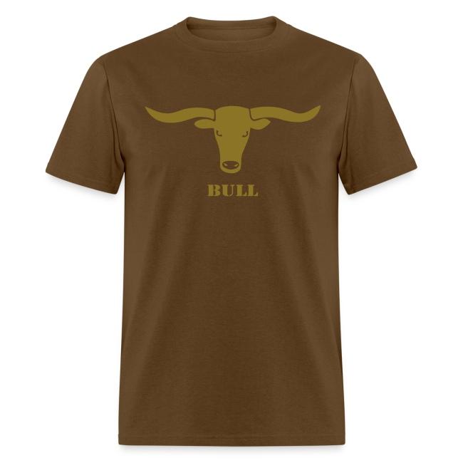 animal t-shirt bull skull ox horn horns bully cow farmer cowboy rodeo hunter texas boy wild west buffalo