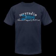T-Shirts ~ Men's T-Shirt by American Apparel ~ Blue Lob - vintage logo, distressed