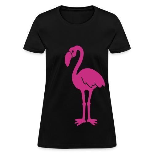 animal t-shirt flamingo pink lagoon laguna bird holiday tropic sunset florida miami - Women's T-Shirt