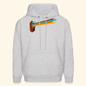 Laser Blast (vintageprint, free shirtcolor selection) - Men's Hoodie